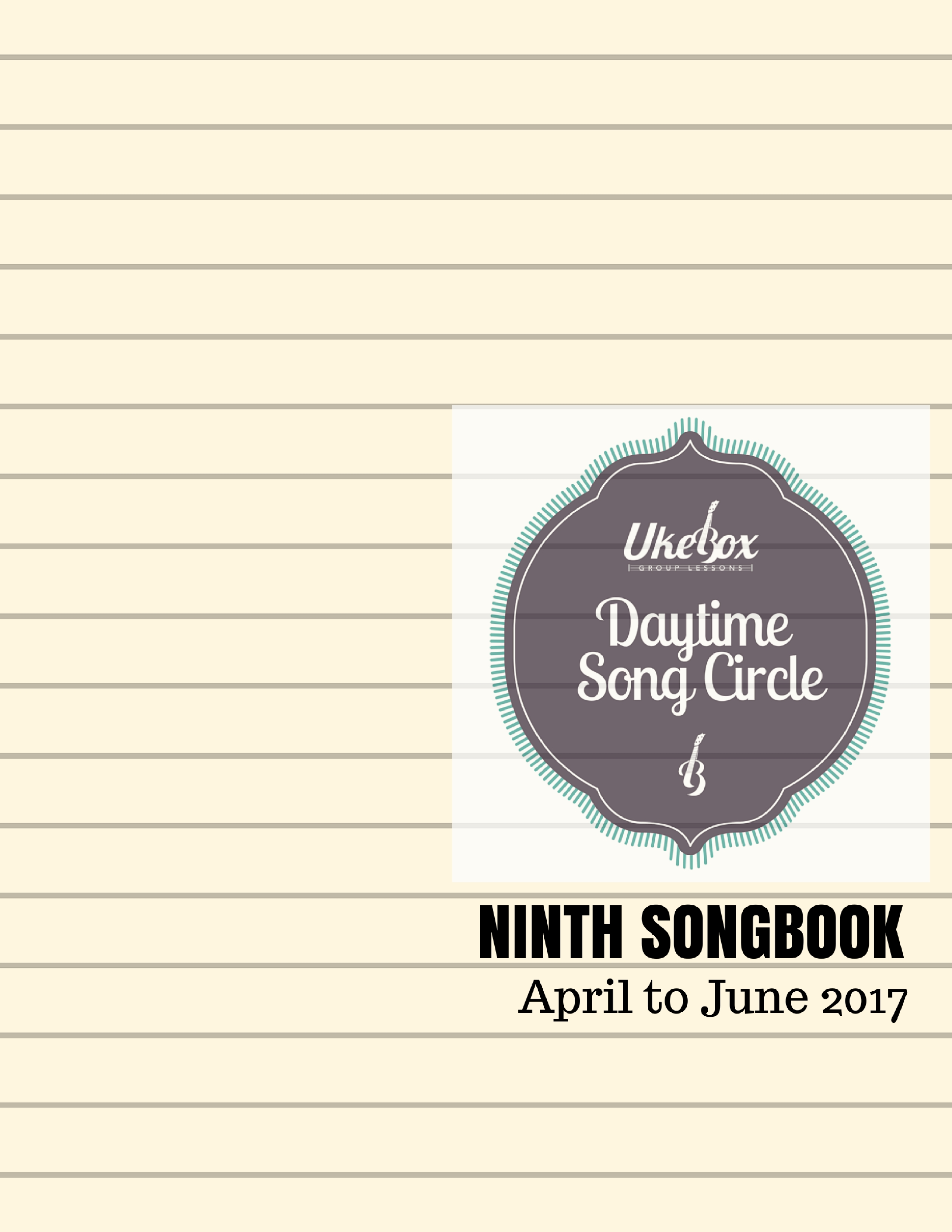 Songcircle Ninth Songbook April June 2017